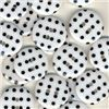 Order  Spotty Button - White/Black