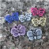 Order  Button - Assorted Colours Butterfly