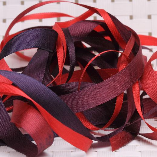 Hand Dyed Silk Ribbon
