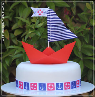 nautical ribbon and buttons