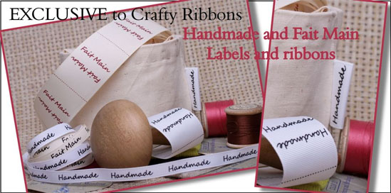 handmade ribbon labels