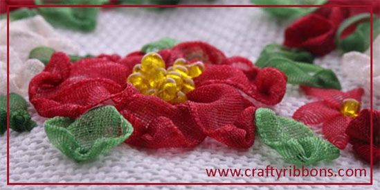 ribbon embroidery by crafty ribbons