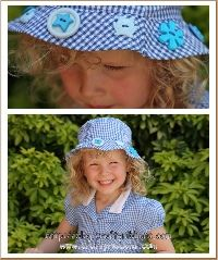 Summer hat with buttons