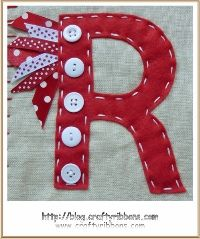 ribbon and button letters