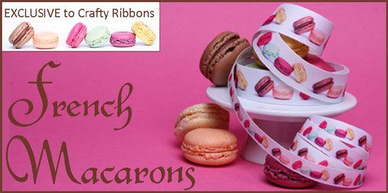 macaroon ribbons , ribbon with macaroons, macaron ribbon
