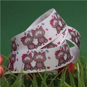 Animal Cuddles Ribbon - Cats