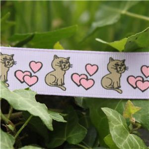 Animal Cuties - Cat & Hearts/Lilac