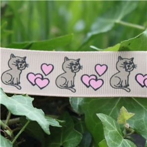 Animal Cuties - Cat & Hearts/Tan