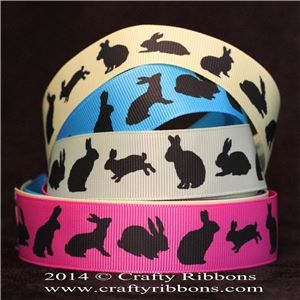 Animal Silhouette Ribbons - Rabbits