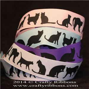 Animal Silhouette Ribbons - Cats