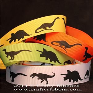 Animal Silhouette Ribbons - Dinosaurs