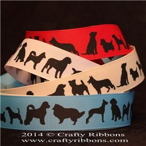 Animal Silhouette Ribbons - Dogs