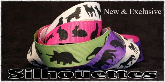 new silhouette animal ribbons