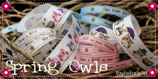 Spring Owl ribbons