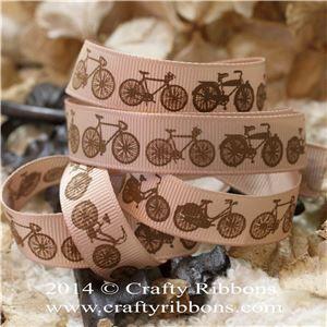 Vintage Butterflies Ribbon - Bikes Latte