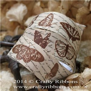 Vintage Butterflies Ribbon - Butterflies
