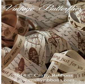Vintage Butterflies Ribbon - WANT IT ALL