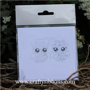 Wedding Owl Topper - Colour your own