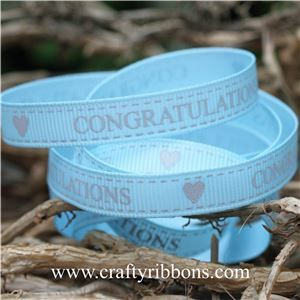Congratulations Ribbon - Blue