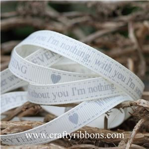 Wedding Owl Ribbon - EVERYTHING Bridal White