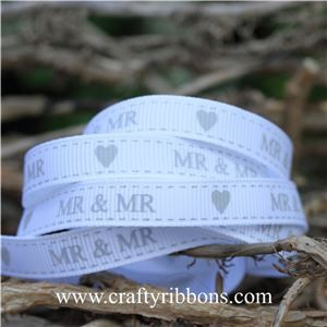 Wedding Owl Ribbon - Mr & Mr White
