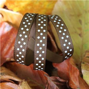 Autumn Leaves Ribbon - Dots Tuftan/Cream