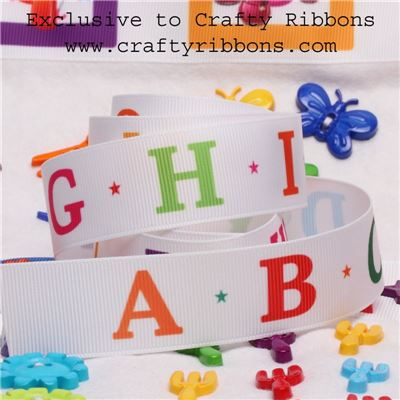 Alphabet Ribbon - 25mm