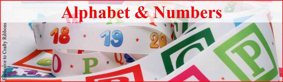 alphabet and number ribbon