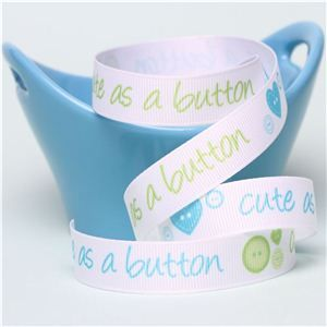 Baby Ribbon - Cute as a button Blue