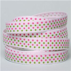 Baby Ribbon - Multi Dots Pink