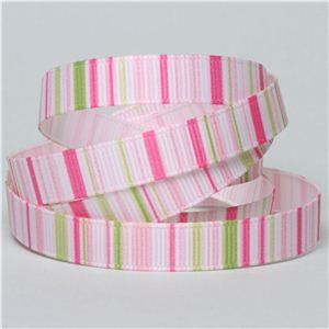 Baby Ribbon - Stripe Pink