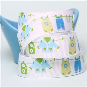 Baby Ribbon - Washing Line Blue