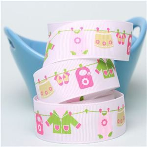 Baby Ribbon - Washing Line Pink