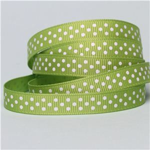 Baby Ribbon - Dots/ Apple