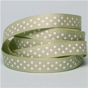 Baby Ribbon - Dots/ Lime Juice