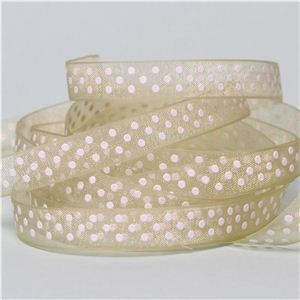 Baby Ribbon - Sheer Dots/ Lime Juice