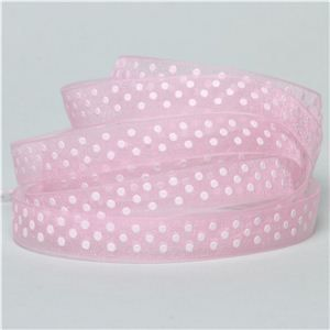 Baby Ribbon - Sheer Dots/ Pearl Pink