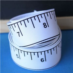 Tape Measure Ribbon - Imperial White