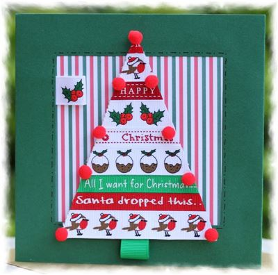 Christmas Tree Pom Pom Card Kit