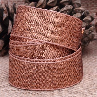 25mm Metallic Ribbon - Copper