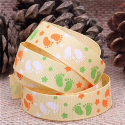 16mm Baby Grosgrain Ribbon - Feet Chamois