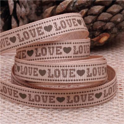 Valentine Ribbon -10mm Love