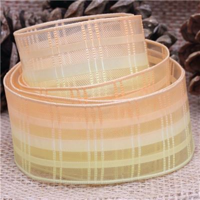 40mm Sheer Ribbon - Ombre Yellow/Orange