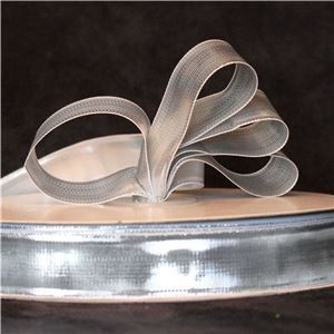 Silver Ribbon 25mm Mettalic