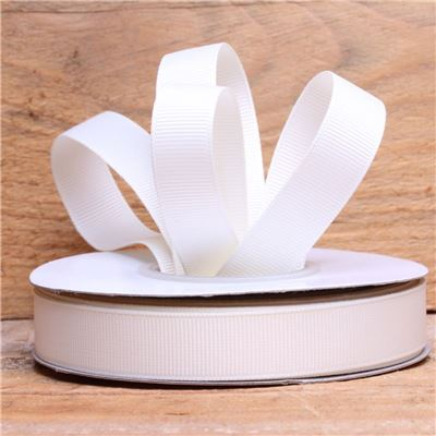Basics 2 Go Grosgrain Ribbon - 16mm Ant White