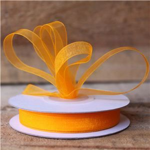 Basics 2 Go Sheer Ribbon - 9mm Tangerine