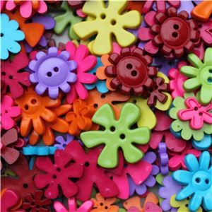 Basics 2 Go Buttons - Flower Brights