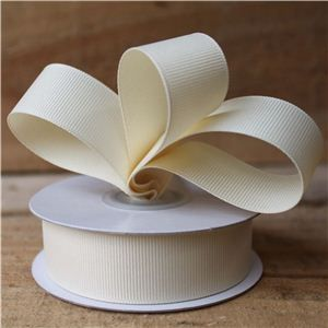 Basics 2 Go Grosgrain Ribbon - 23mm Cream