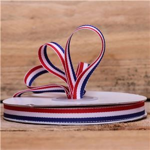 Basics 2 Go Grosgrain Ribbon - 10mm Red/White/Blue