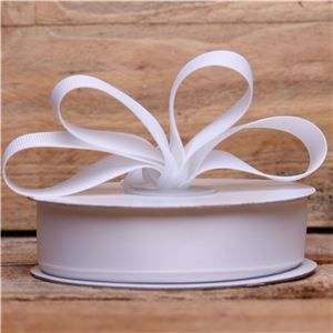 Basics 2 Go Grosgrain Ribbon - 22mm White